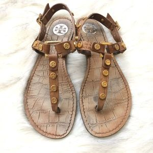 Tory Burch •Snake skin sandals•